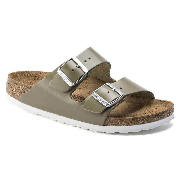 Women's Birkenstock Arizona Slide Sandal - Khaki Leather