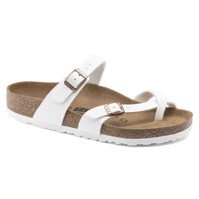 Birkenstock Women's Mayari Sandals - White w/Copper Birko-Flor