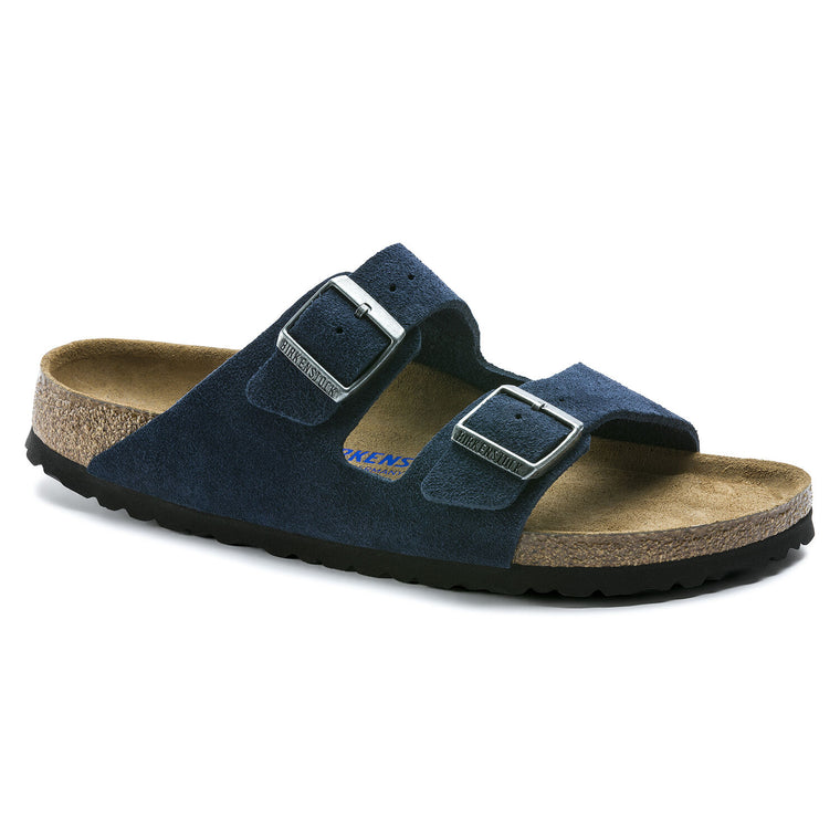 Women's Birkenstock Arizona Soft Footbed Sandal - Night Suede
