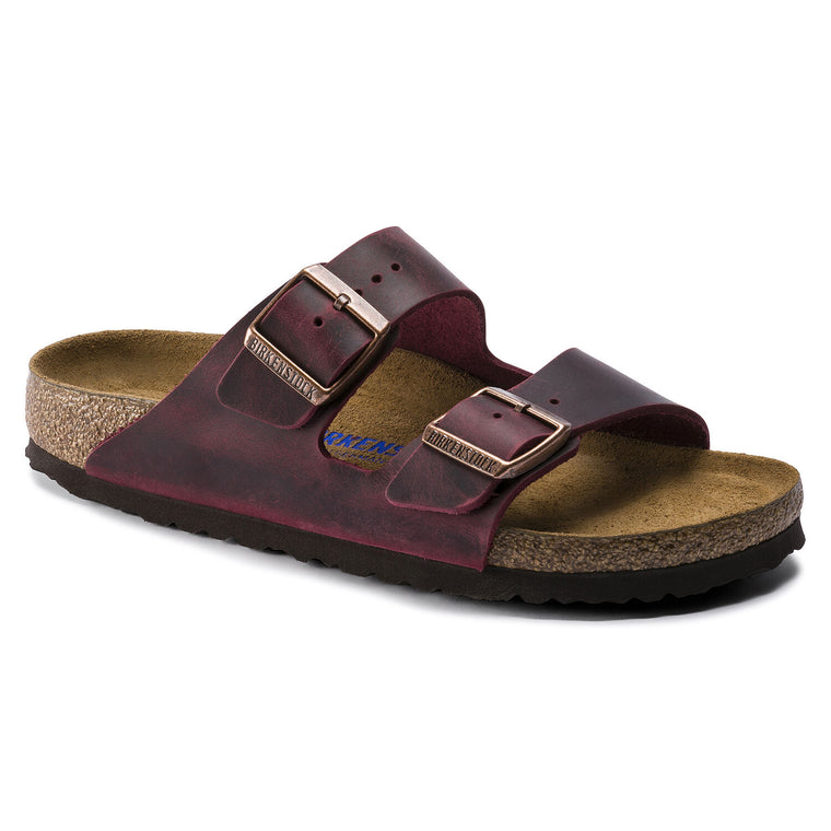 Women's Birkenstock Arizona Soft Footbed Oiled Leather - Zinfandel