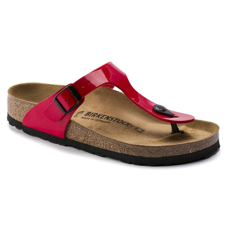 Birkenstock Women's Gizeh Sandals - Cherry Red Birko-Flor Patent