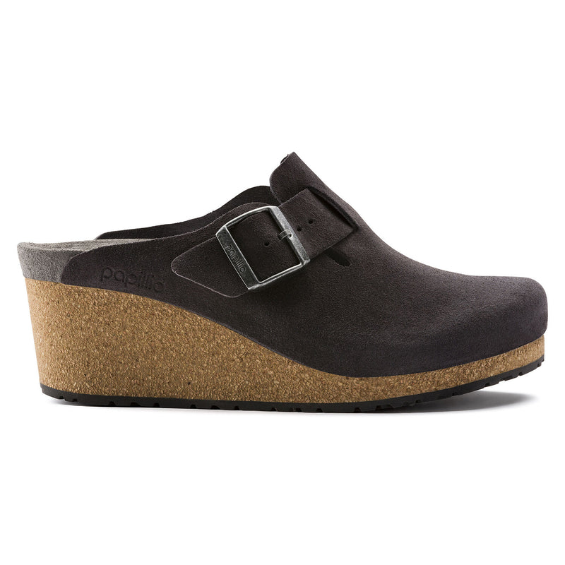 Papillio by Birkenstock Women's Fanny Clog - Anthracite Suede