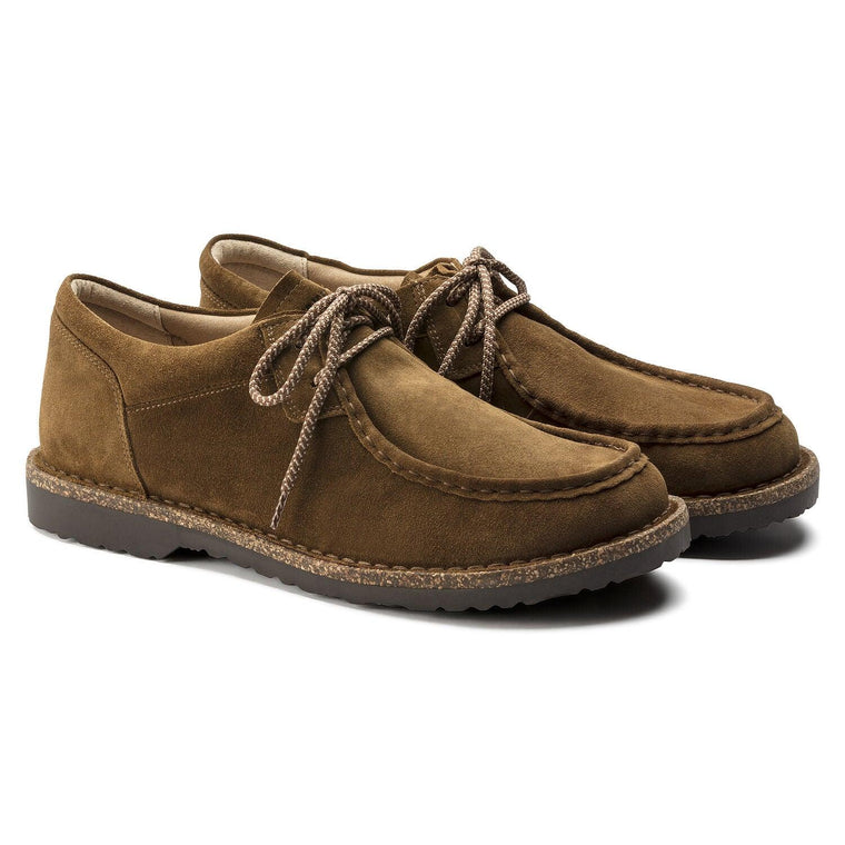 Birkenstock Men's Pasadena Moc Toe Shoe - Tea Suede