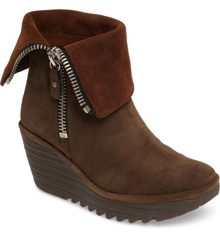 Women's Fly London Yex Platform Wedge Bootie