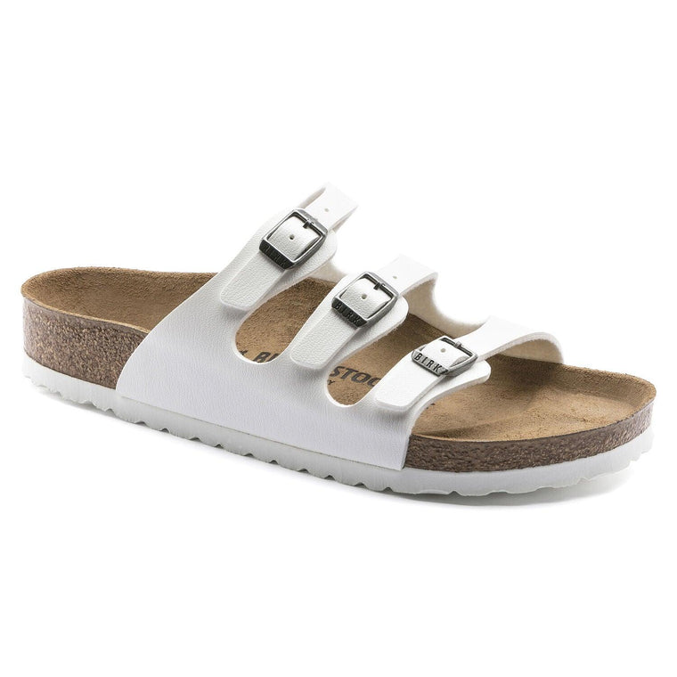 Birkenstock Women's Florida Sandals - White Birko-Flor