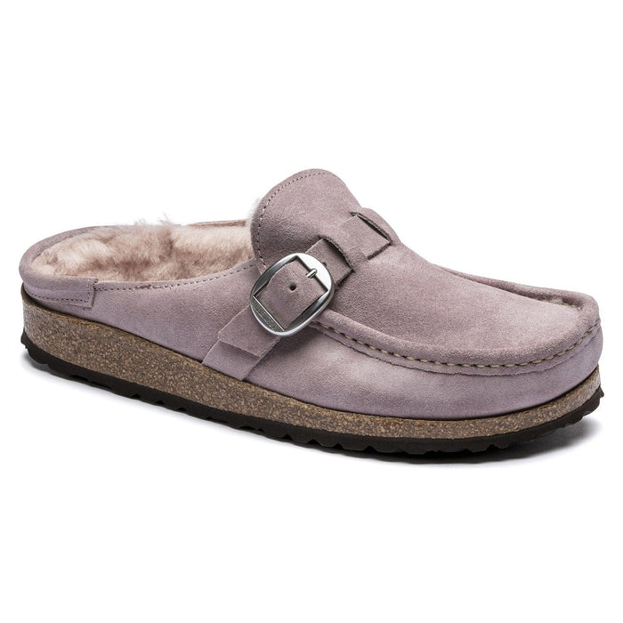 Birkenstock Women's Buckley Shearling Suede Leather Clog - Lavender Blush