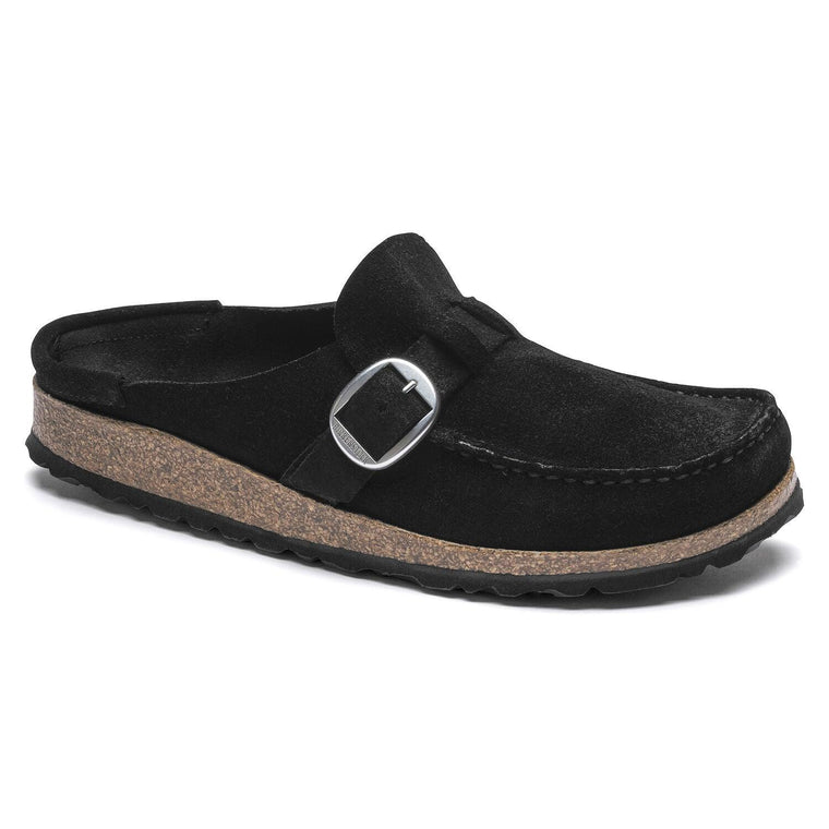 Birkenstock Women's Buckley Moccasin Clog - Black Suede