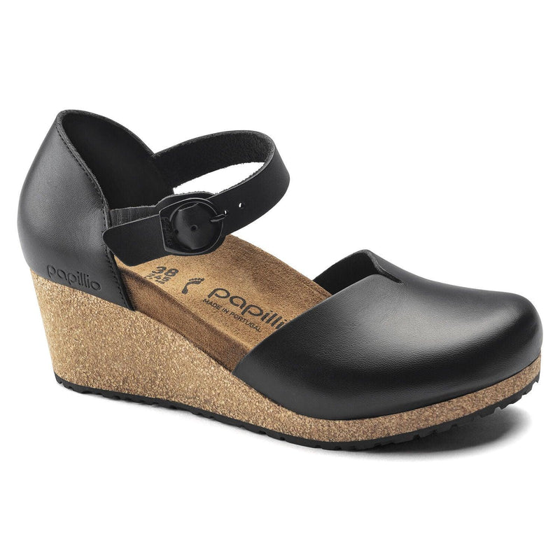 Birkenstock Women's Mary Closed-Toe Wedge - Black Leather