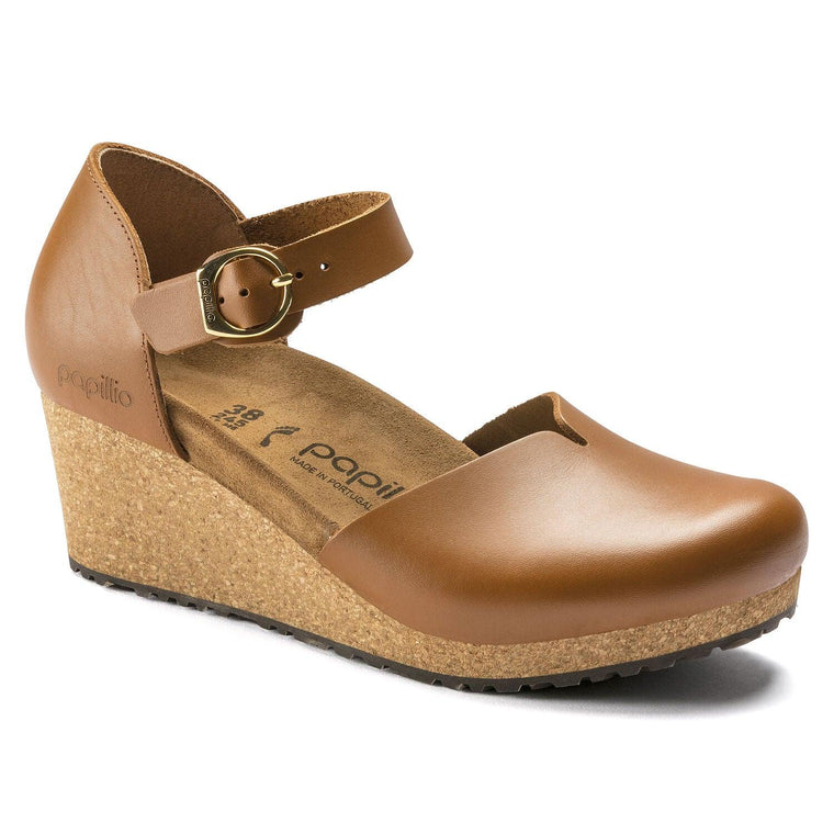 Birkenstock Women's Mary Closed-Toe Wedge - Ginger Brown Leather