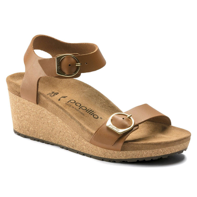 Birkenstock Women's Soley Wedge Sandals - Ginger Brown Leather
