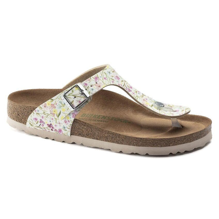 Birkenstock Women's Gizeh Vegan Sandals - Watercolor White Flower