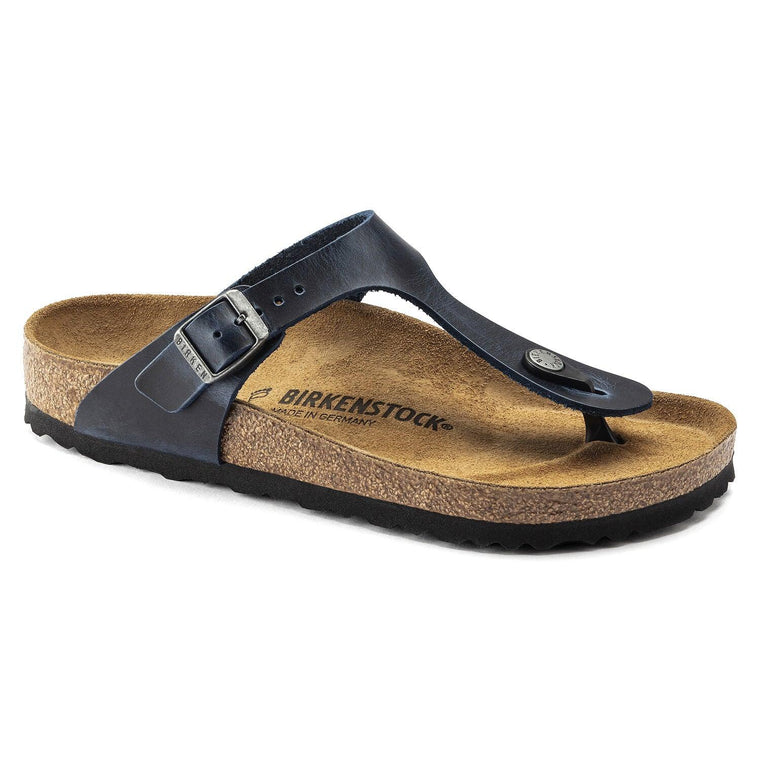 Birkenstock Women's Gizeh Sandals - Navy Blue Oiled Leather
