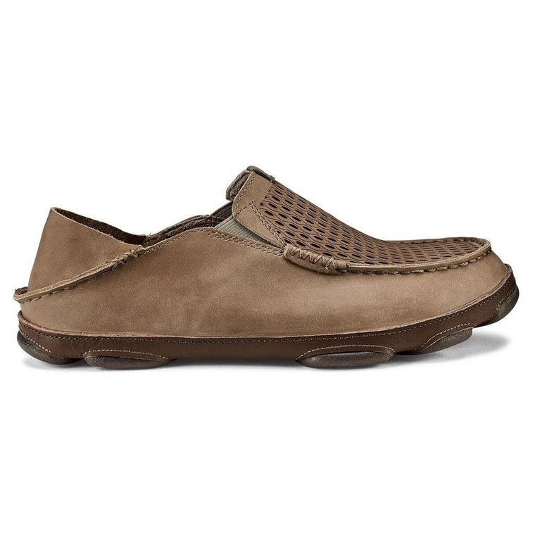 Men's OluKai Moloa Aho Slip On Shoes - Clay/Husk