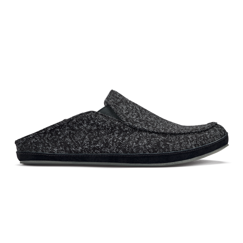 Olukai Men's Moloa Hulu Slippers - Black/Black