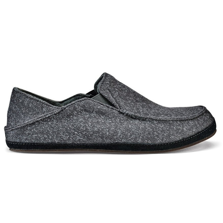 Olukai Men's Moloa Hulu Slippers - Dark Shadow/Dark Shadow