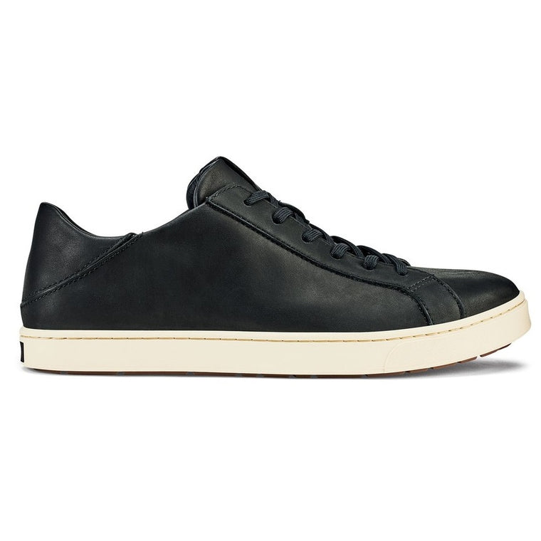 Men's Olukai Kahu Pahaha Leather Sneakers - Black/Bone