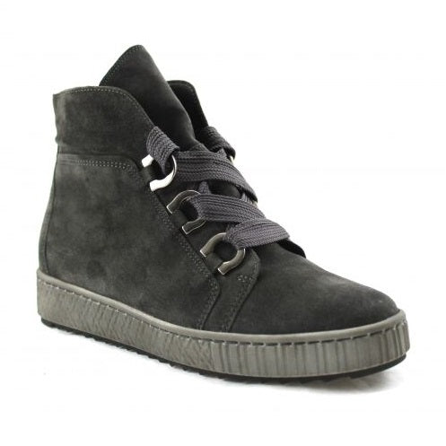 Gabor Women's 93.760.19 Hidden Wedge Sneaker - Dark Grey