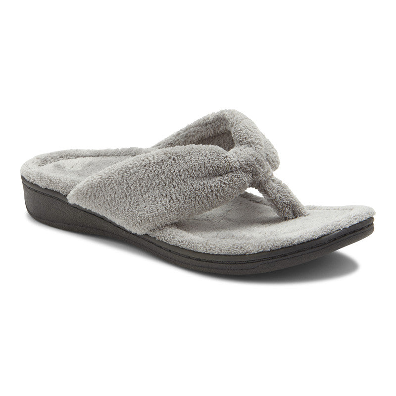 Women's Vionic Gracie Toe Post Slipper - Light Grey