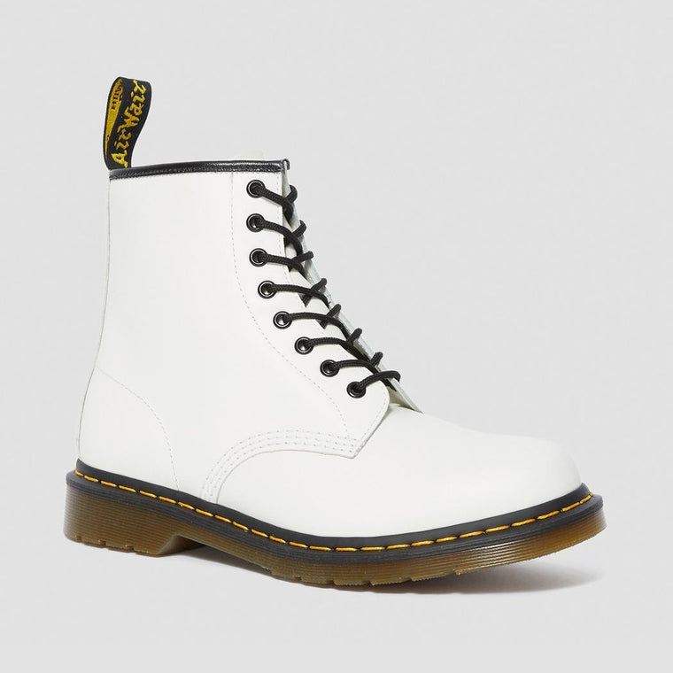 Dr. Martens Women's 1460 Smooth Leather Lace Up Boots - White Smooth