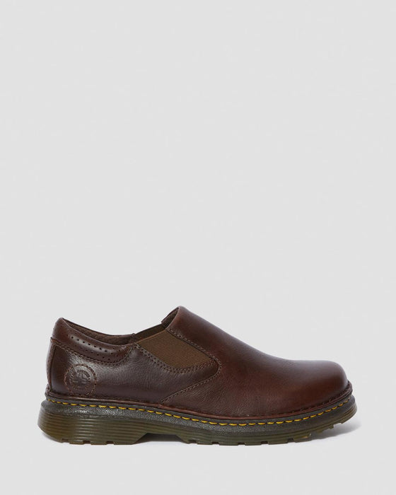 Dr. Martens Men's Orson Leather Slip On Shoes - Dark Brown Overdrive
