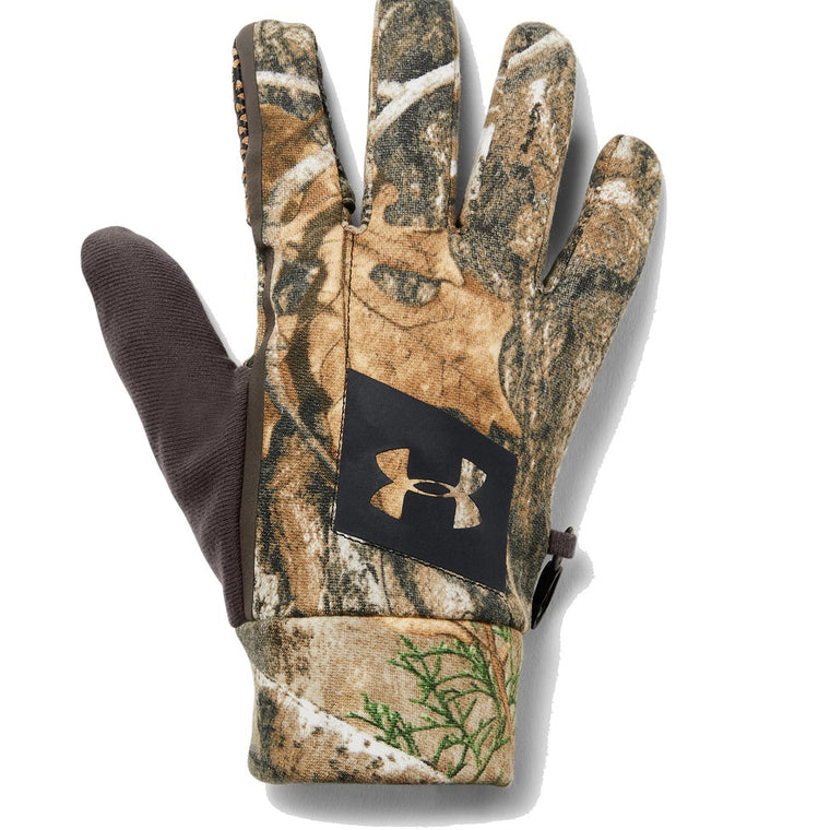 Under Armour Men's UA Hunt Early Season Fleece Glove - Real Tree Edge/Maverick Brown/Black