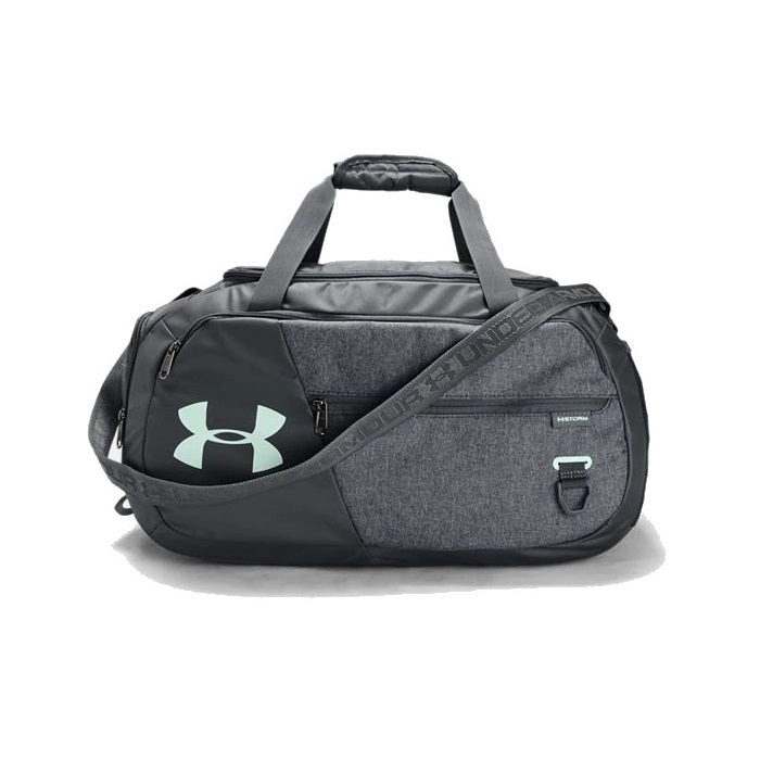 Under Armour UA Undeniable Duffel 4.0 Small Duffle Bag - Pitch Gray/Pitch Gray Medium Heather/Seaglass Blue