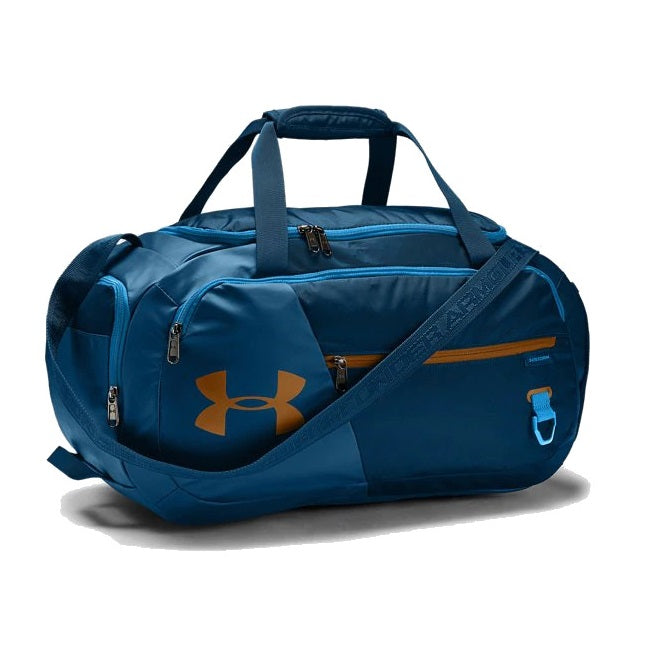 Under Armour UA Undeniable Duffel 4.0 Small Duffle Bag - Graphite Blue/Electric Blue/Yellow Ochre