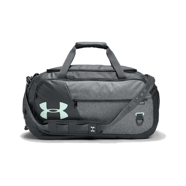 Under Armour UA Undeniable Duffle 4.0 Medium Duffle Bag - Pitch Gray/Pitch Gray Medium Heather/Seaglass Blue