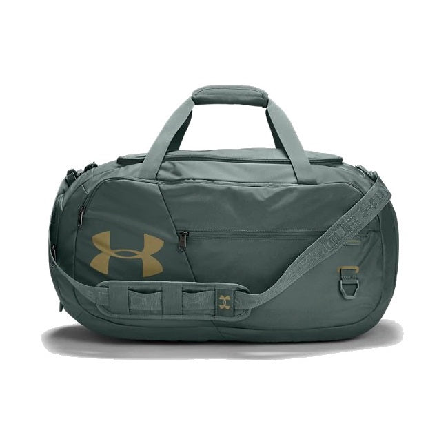 Under Armour UA Undeniable Duffle 4.0 Medium Duffle Bag - Lichen Blue/Metallic Gold Luster