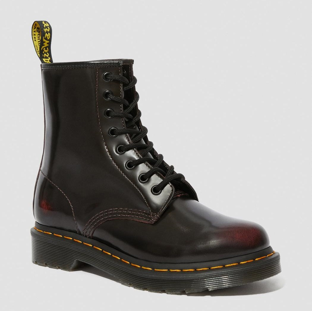Dr. Martens Women's 1460 Arcadia Leather Lace Up Boots - Cherry Red