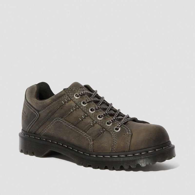 Dr. Martens Men's Keith Leather Casual Shoes - Black Greenland