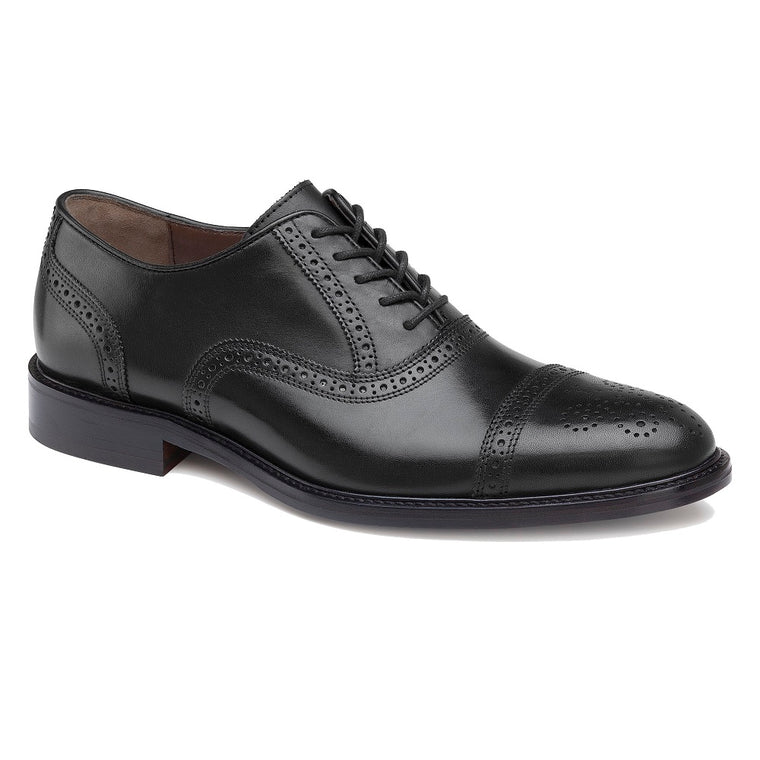 Men's Johnston & Murphy Daley Cap Toe - Black Full Grain