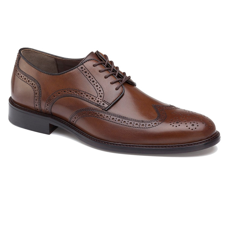 Men's Johnston & Murphy Daley Wingtip - Tan Full Grain