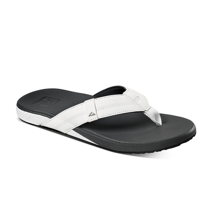 Reef Men's Cushion Bounce Phantom Flip Flops - White/Charcoal