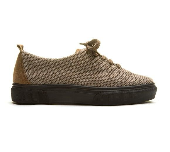 Arcopedico Women's Net 10 Knit Sneaker - Taupe