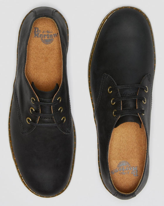 Dr. Martens Men's Coronado Wyoming Leather Casual Shoes - Black