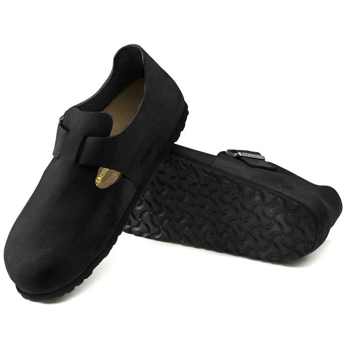 Birkenstock London Shoes - Black Oiled Leather