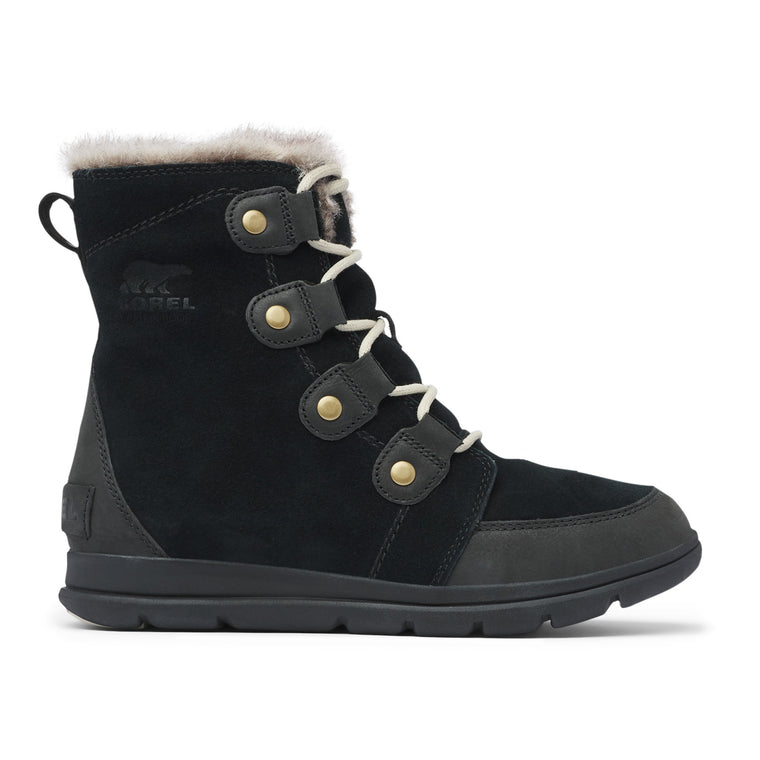 Sorel Women's Explorer Joan Boot - Black/Dark Stone