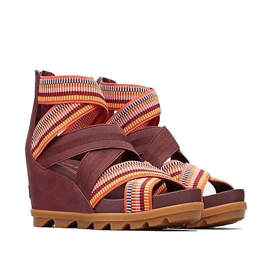 Women's Sorel Joanie II Strap Wedge Sandal - Elderberry