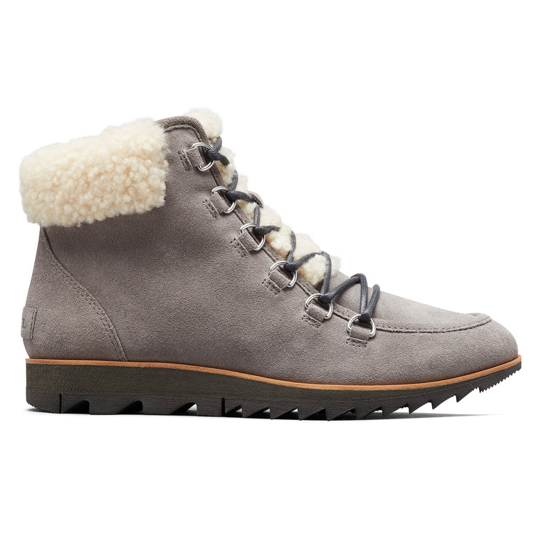 Sorel Women's Harlow Lace Cozy Boot - Light Grey