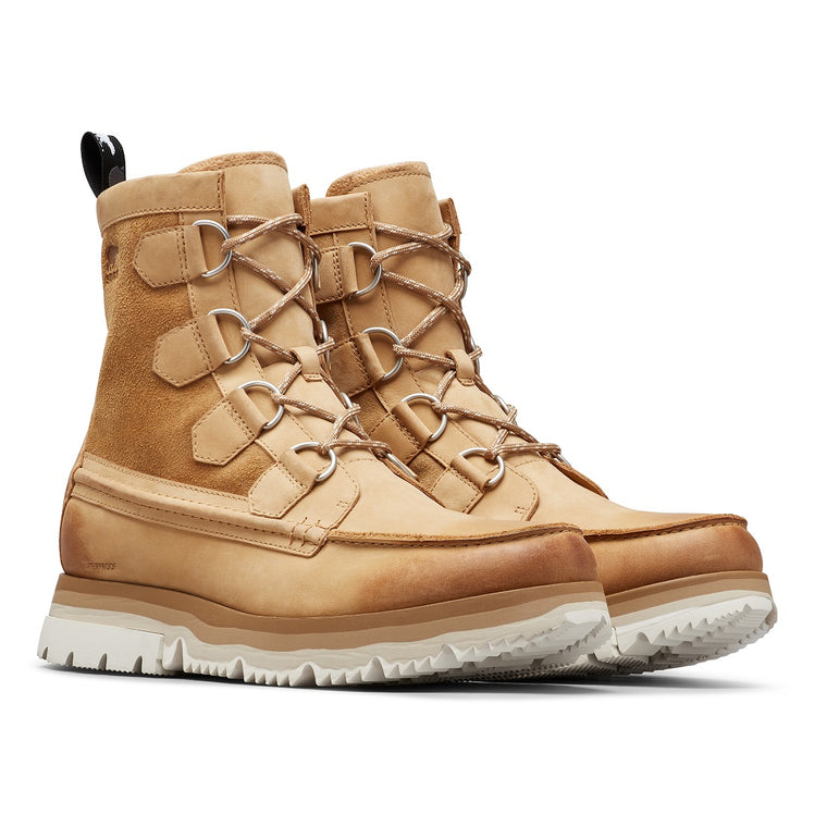 Sorel Men's Atlis Caribou Waterproof Boot - Curry/Sea Salt