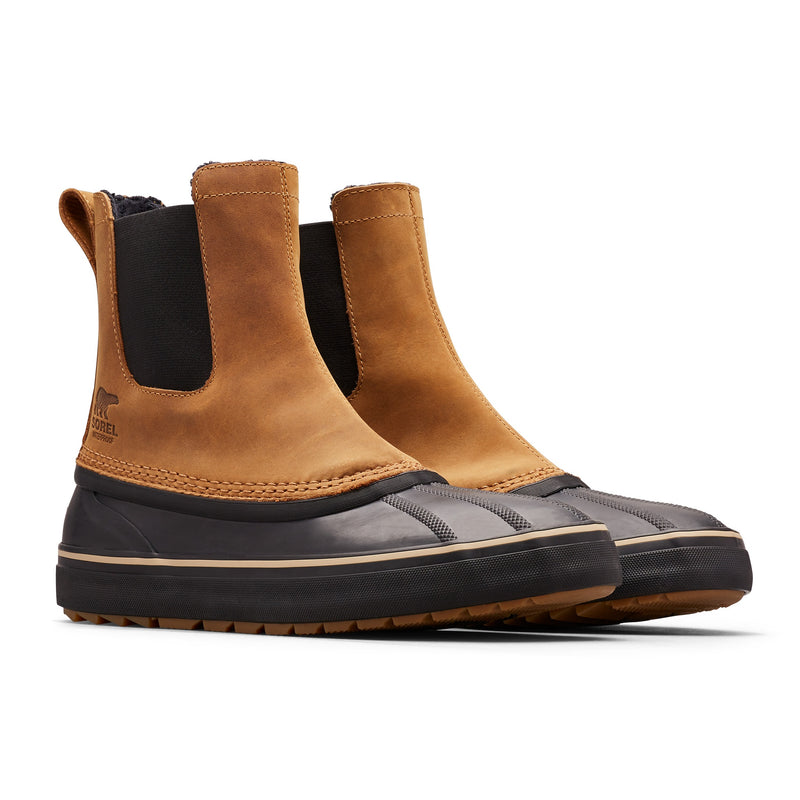 Sorel Men's Cheyanne Metro Chelsea Waterproof Boot - Elk/Black