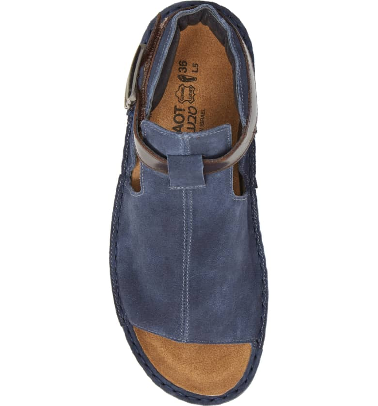 19bd134193a5 Women s Naot Verbena - Midnight Blue Suede Walnut