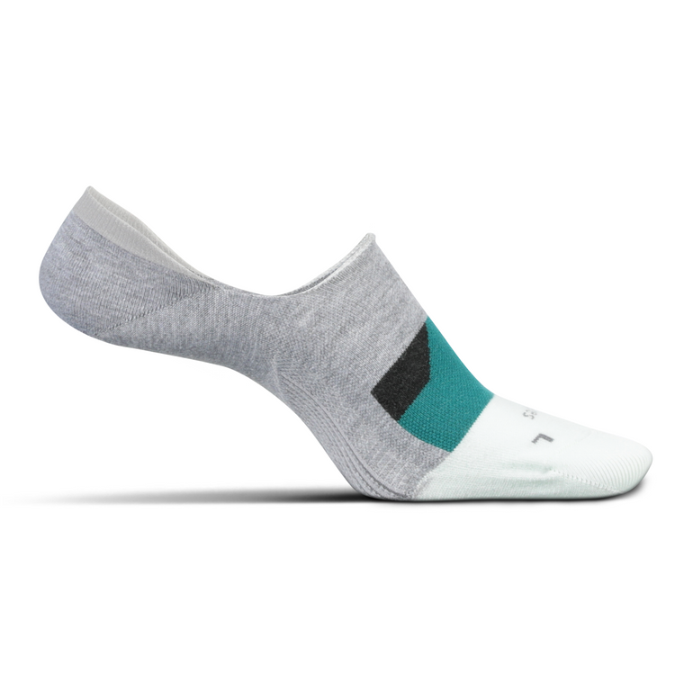 Feetures Women's Everyday Hidden Dynamic Diamond Socks - Light Gray