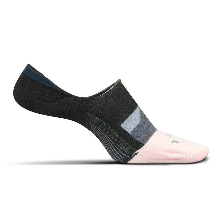 Feetures Women's Everyday Hidden Dynamic Diamond Socks - Charcoal