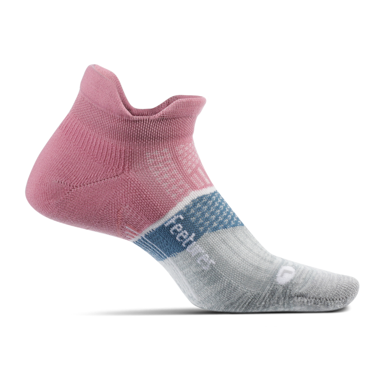 Feetures Elite Max Cushion No Show Tab - Heather Rose