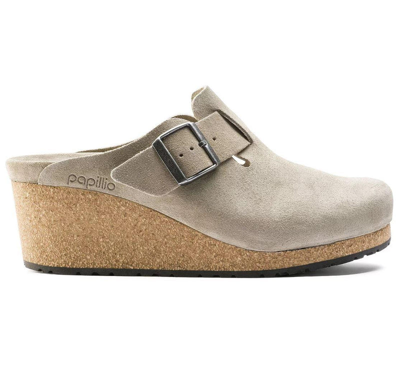 Women's Papillio Fanny Wedge Clog - Taupe Suede