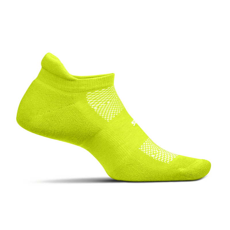 Feetures HP Ultra Light Cushion No Show Tab Socks - Bio Lime