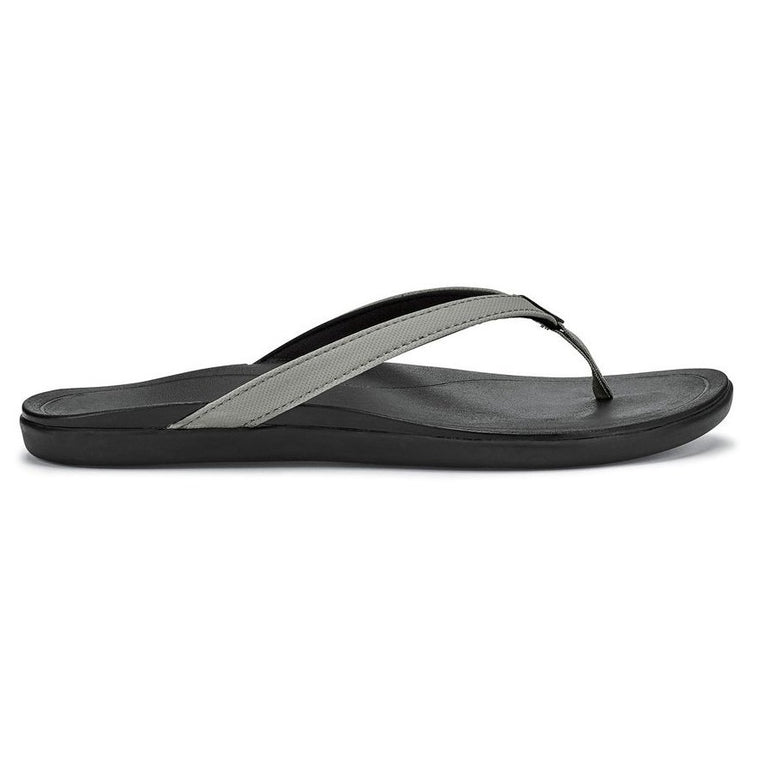 Women's OluKai Ho'opio Beach Sandals - Cooler Grey/Black