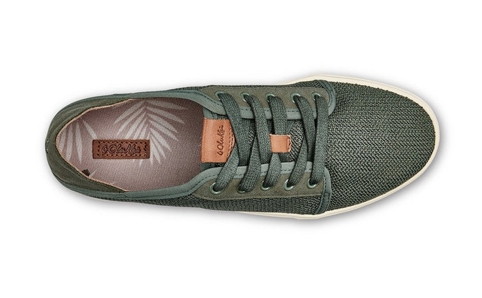 Women's Olukai Pehuea Li Lace Up Mesh Sneakers - Dusty Olive